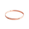 """Hammer Home Your Message"" Diamond & 18K Rose Gold Vermeil Bangle"