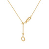 """Hot Mic"" Diamond & 23K Gold Vermeil Necklace on Gold Vermeil Chain"