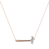 """Hammer Home Your Message"" Diamond & 18K Rose Gold Vermeil Necklace on Rose Gold Vermeil Chain"
