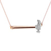 """Secure the Future"" Diamond & 18K Rose Gold Vermeil Necklace on Rose Gold Vermeil Chain"