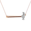 """Hammer Home Your Message"" Diamond & 23K Gold Vermeil Necklace on Gold Vermeil Chain"