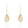 """It All Starts Here"" Diamond & 23K Gold Vermeil Earrings"