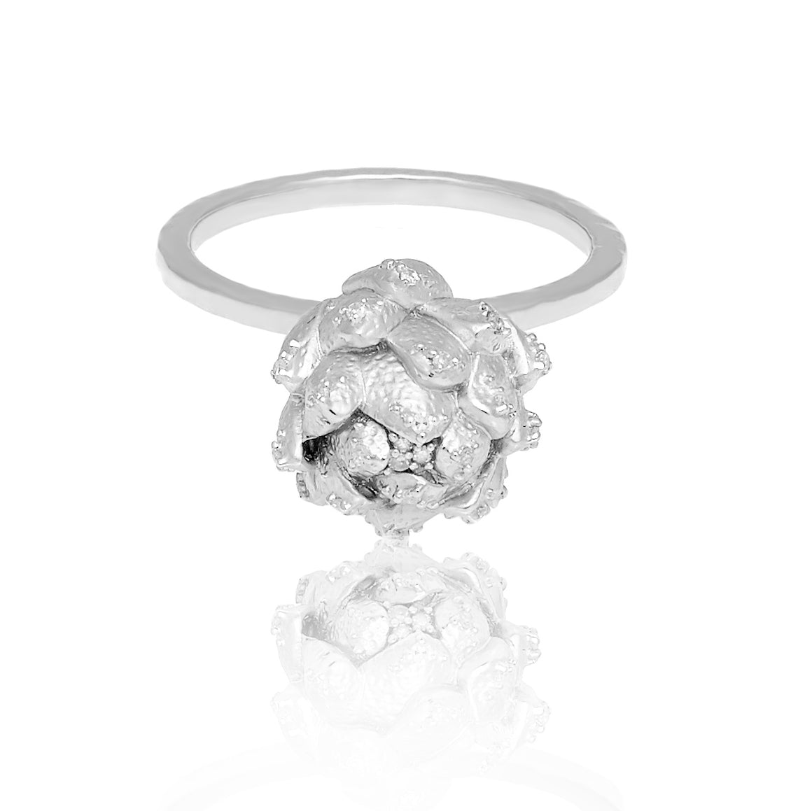 """Get to the Heart of the Matter"" Diamond & Sterling Silver Ring"
