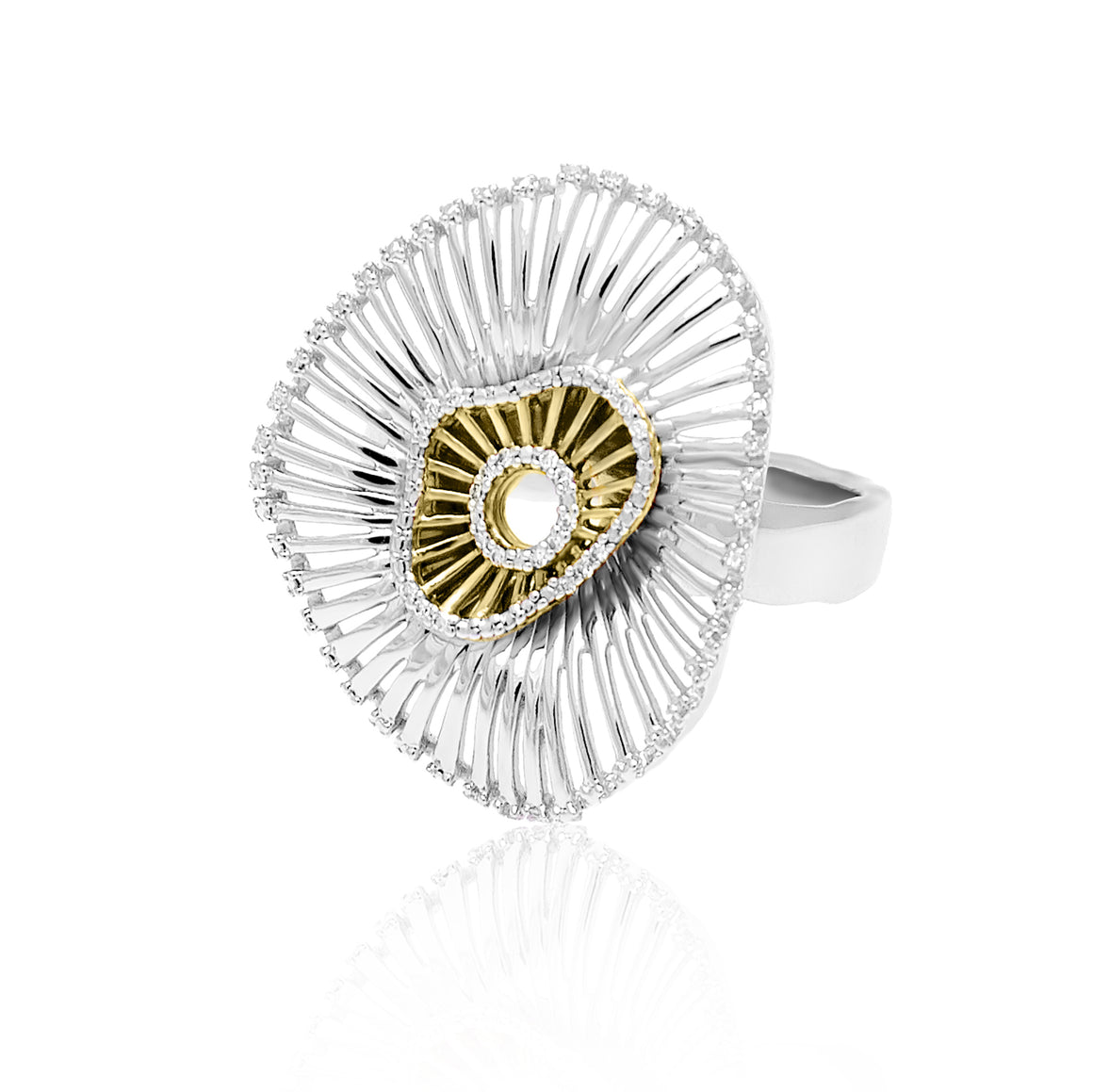 """Make Room for Me"" Diamond, Sterling Silver & 23K Gold Vermeil Ring"