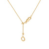 """Do the Heavy Lifting"" Diamond & 23K Gold Vermeil Necklace on Gold Vermeil Chain"