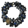 Lapis & Onyx Wish Petal Necklace