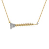"""Nuts & Bolts of Giving"" Diamond & 23K Gold Vermeil Necklace on Gold Vermeil Chain"