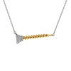 """Screw You...I Got This"" Diamond & 23K Gold Vermeil Necklace on Sterling Silver Chain"
