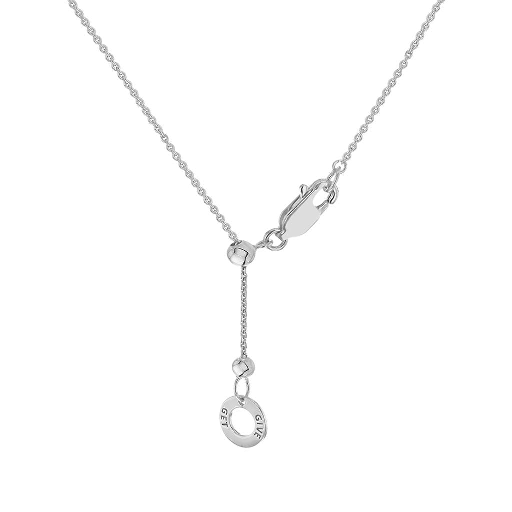 """Screw You...I Got This"" Diamond & Sterling Silver Necklace on Sterling Silver Chain"