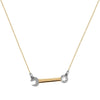 """Crank it Up"" Diamond & 23K Gold Vermeil Necklace on Gold Vermeil Chain"