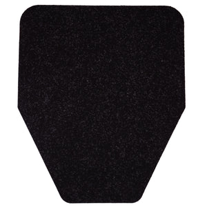 Disposable Antimicrobial Non-Slip Urinal Mats (6-Pack in Black)