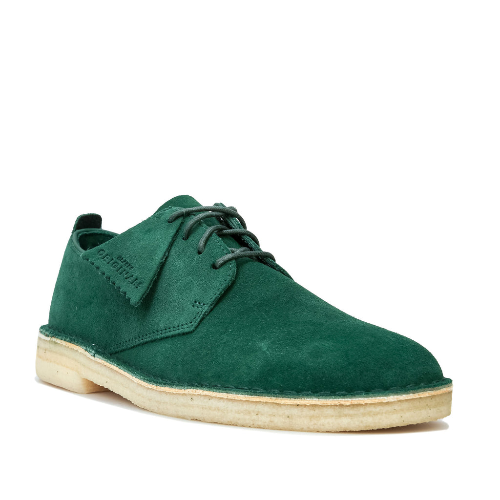 Desert London Green Suede
