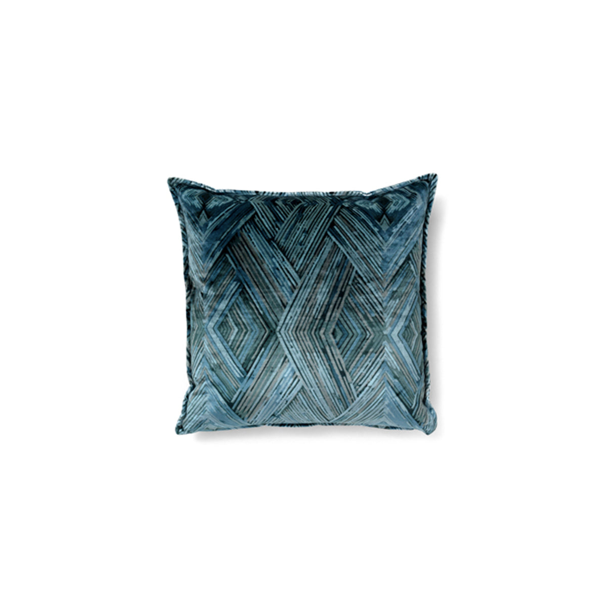 Peafowl II Blue Pillow by Brabbu