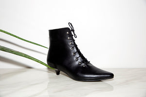 Gambler Lace-Up Boots
