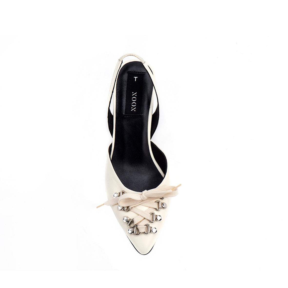 Bone Sling-Back Pumps
