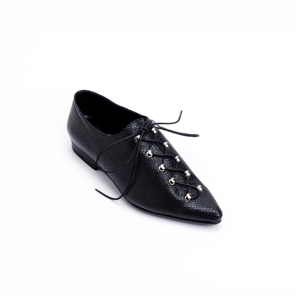 Dice Lace Up Flats