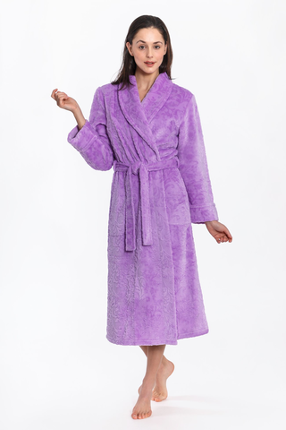 Floral Design Royal Plush Robe