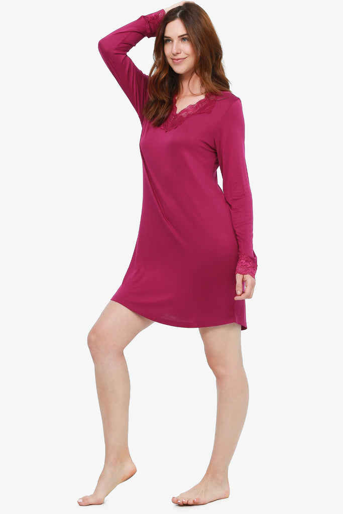 JNY - Lacey Nightshirt (Mulberry) - CozyAndCurious