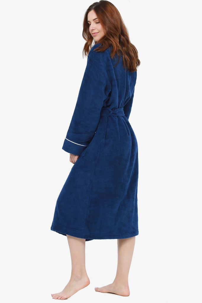 JNY - The Perfect Spa Robe (Navy) - CozyAndCurious