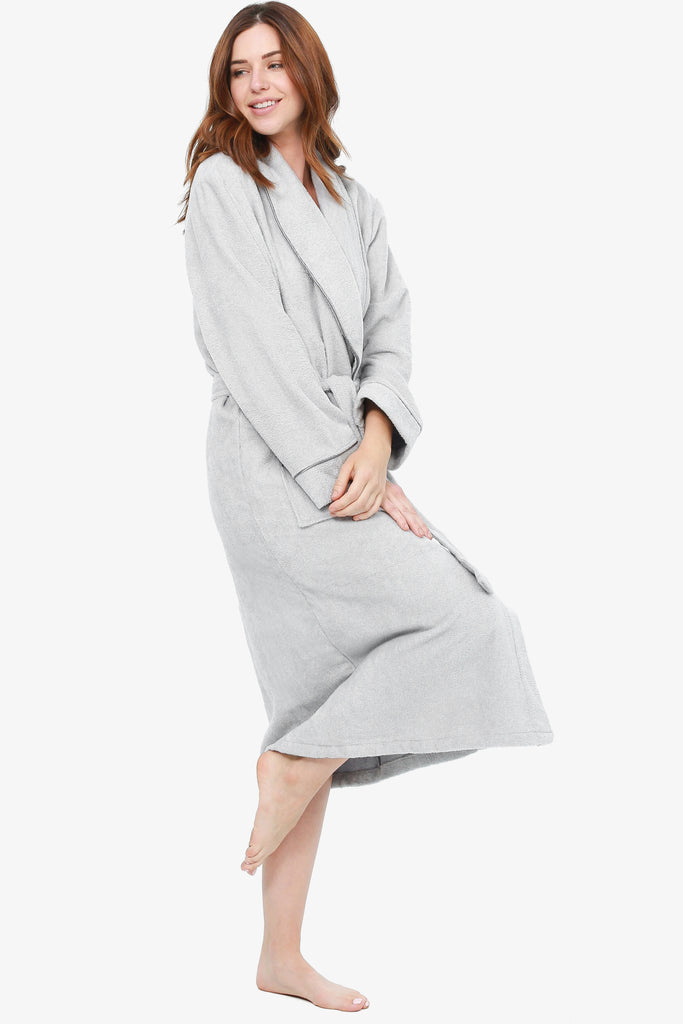 JNY - The Perfect Spa Robe (Silver) - CozyAndCurious
