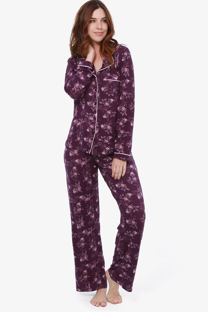 JNY - Floral Pajama Set (Grapeseed) - CozyAndCurious