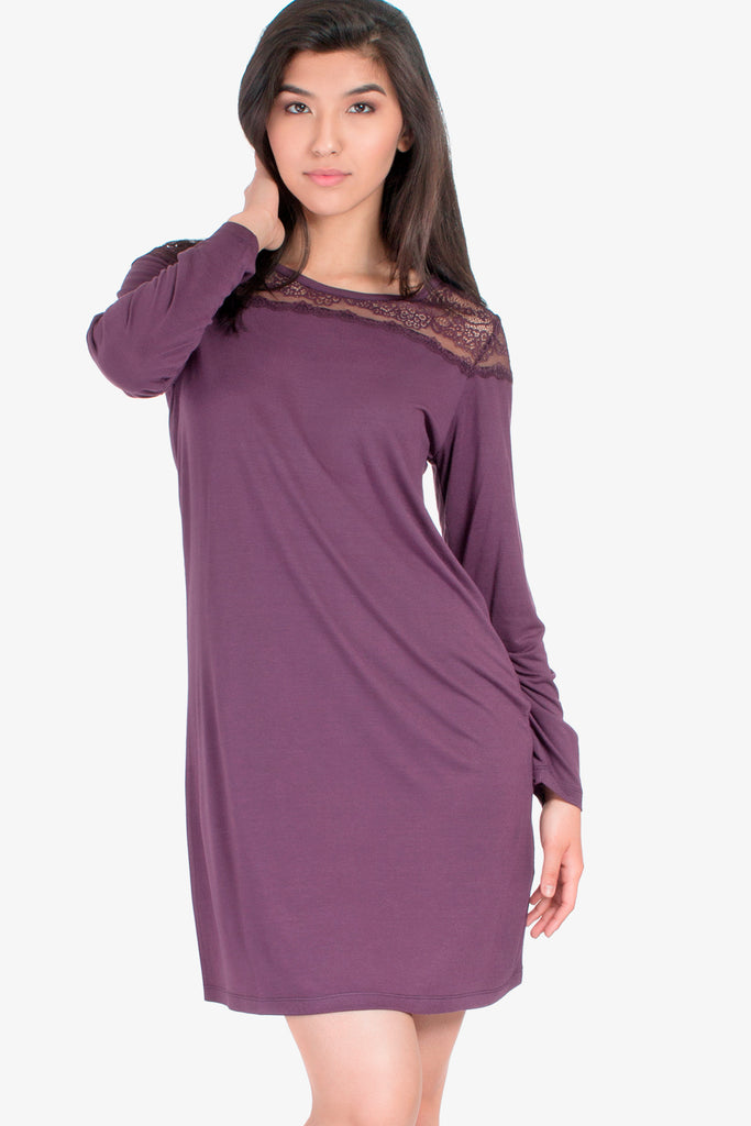 JNY - Lacey Nightshirt (Grapeseed) - CozyAndCurious