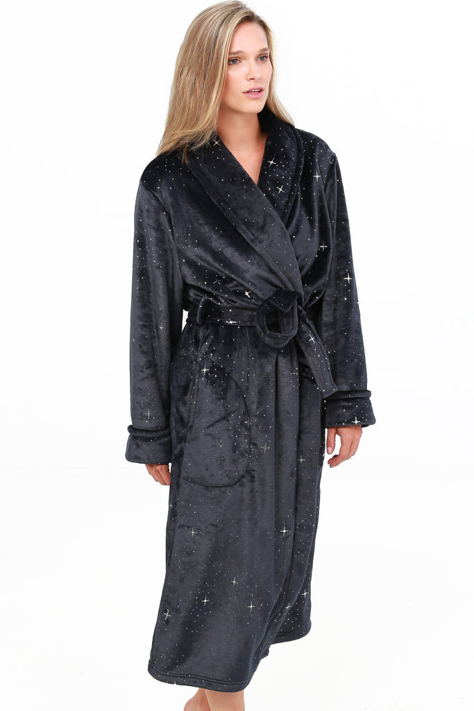 Royal Plush Foil Printed Robe