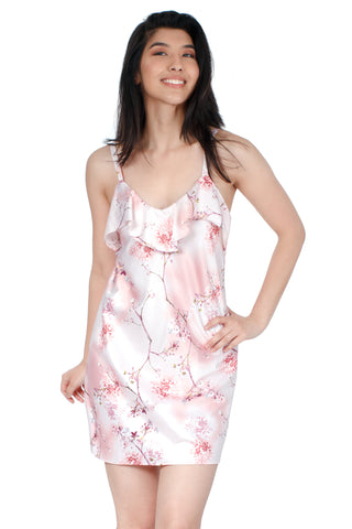 Printed Jersey Halter Cami and Shorts Pajama Set