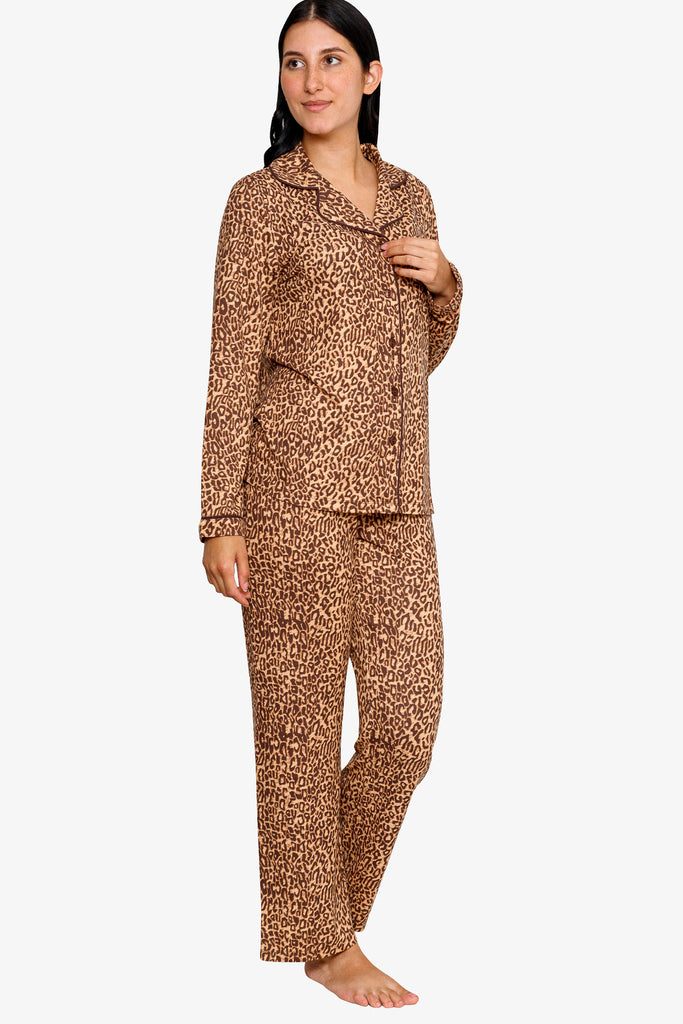 BEAUIFULLY PRINTED NOTCH COLLAR  PAJAMA