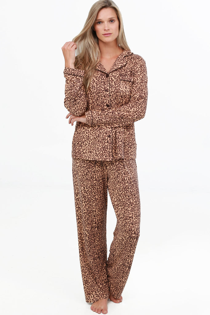 JNY-SPARKLE NOTCH COLLAR PAJAMA