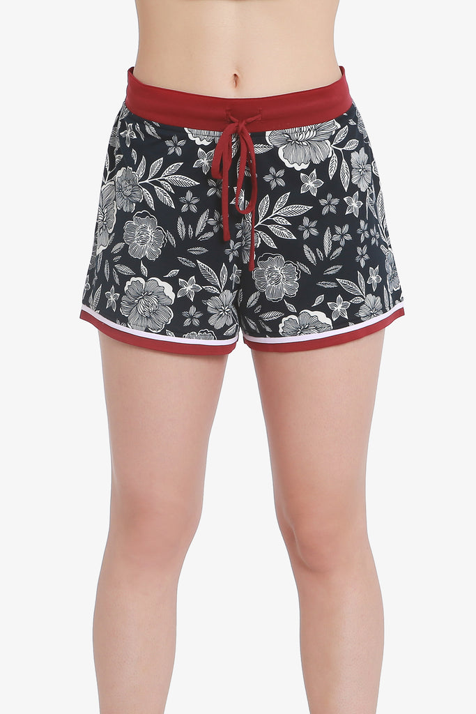 Floral Shorts (Vulcan Graphic) - CozyAndCurious
