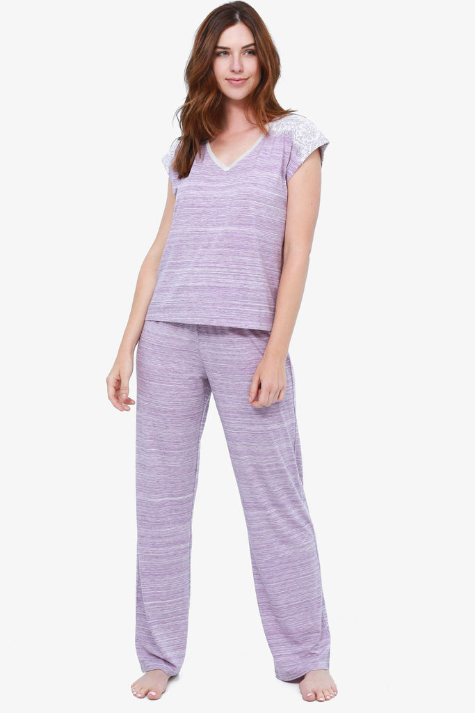 JNY - Space Dyed Pajama Set (Amethyst) - CozyAndCurious