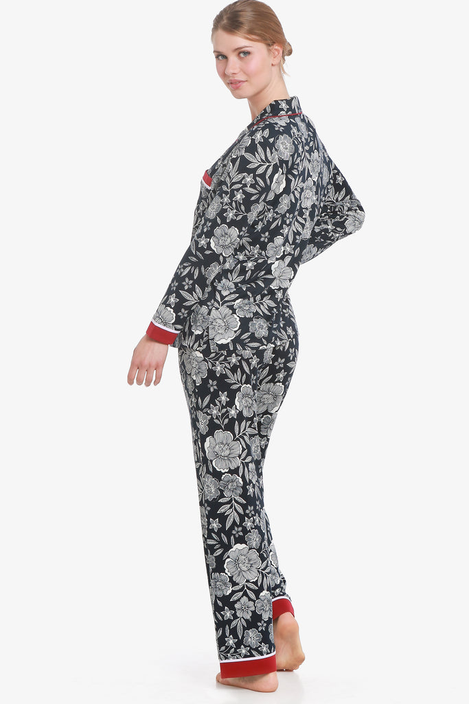 Floral Pajama Set (Vulcan Graphic) - CozyAndCurious