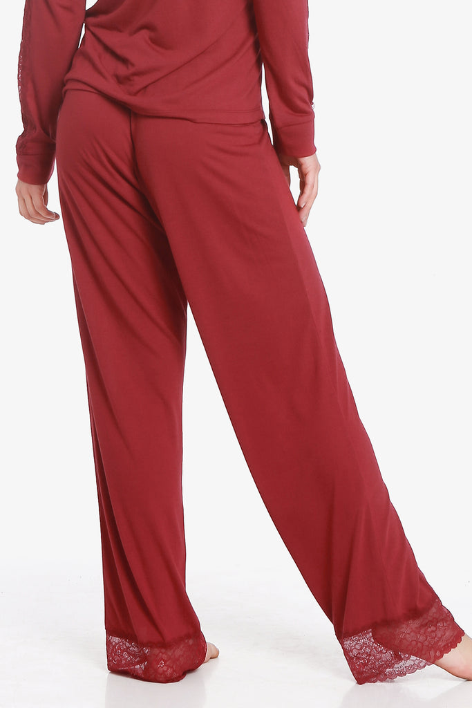JNY - Lacey Pajama Pants (Beaujolais) - CozyAndCurious
