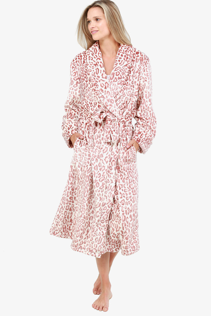 JNY - Rosy Animal Print Robe