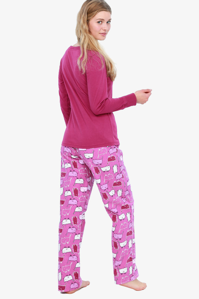 Kitty Pajama Set (Pink)