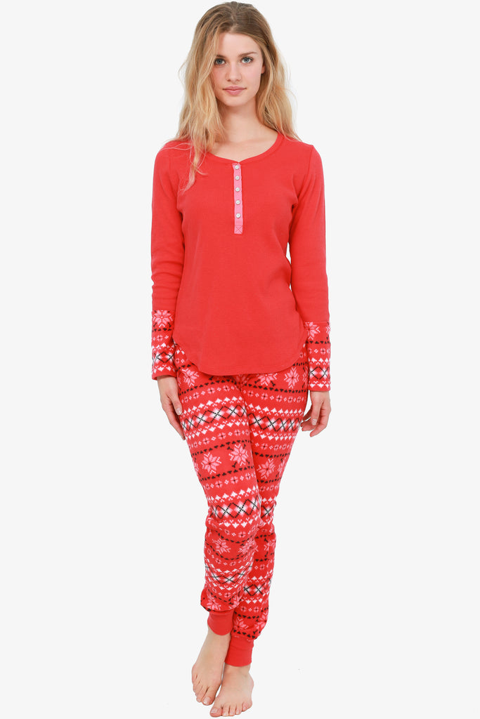 The Cozy 2-Piece Pajama Set (Red)