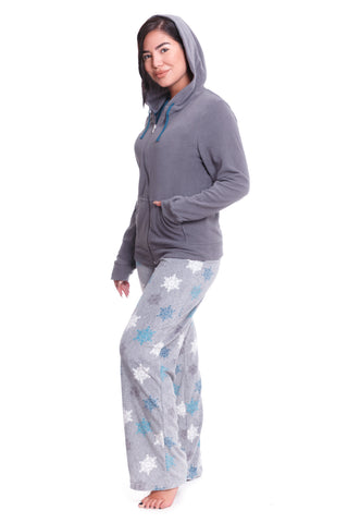 Soft Roses 100% Cotton Pajama Set - Gray