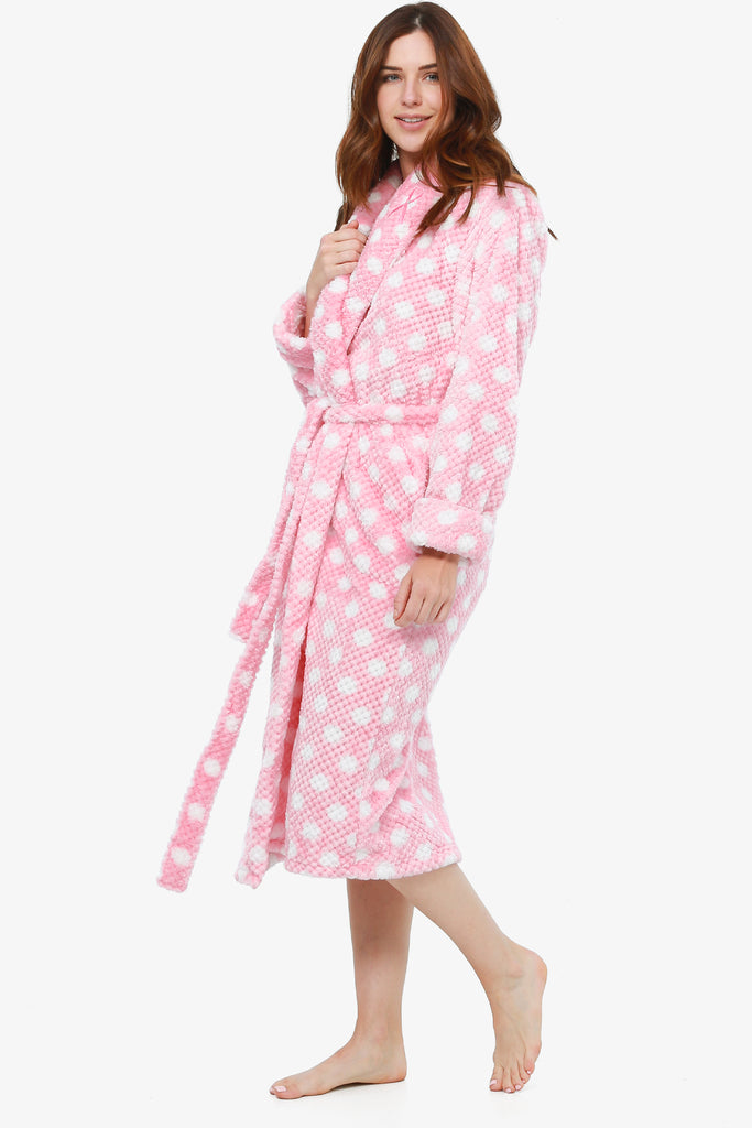 The Breast Cancer Awareness Plush Robe (First Blush) - CozyAndCurious