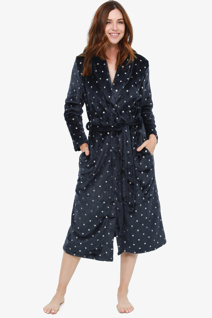 The Shine Bright like a Diamond Robe (Navy) - CozyAndCurious
