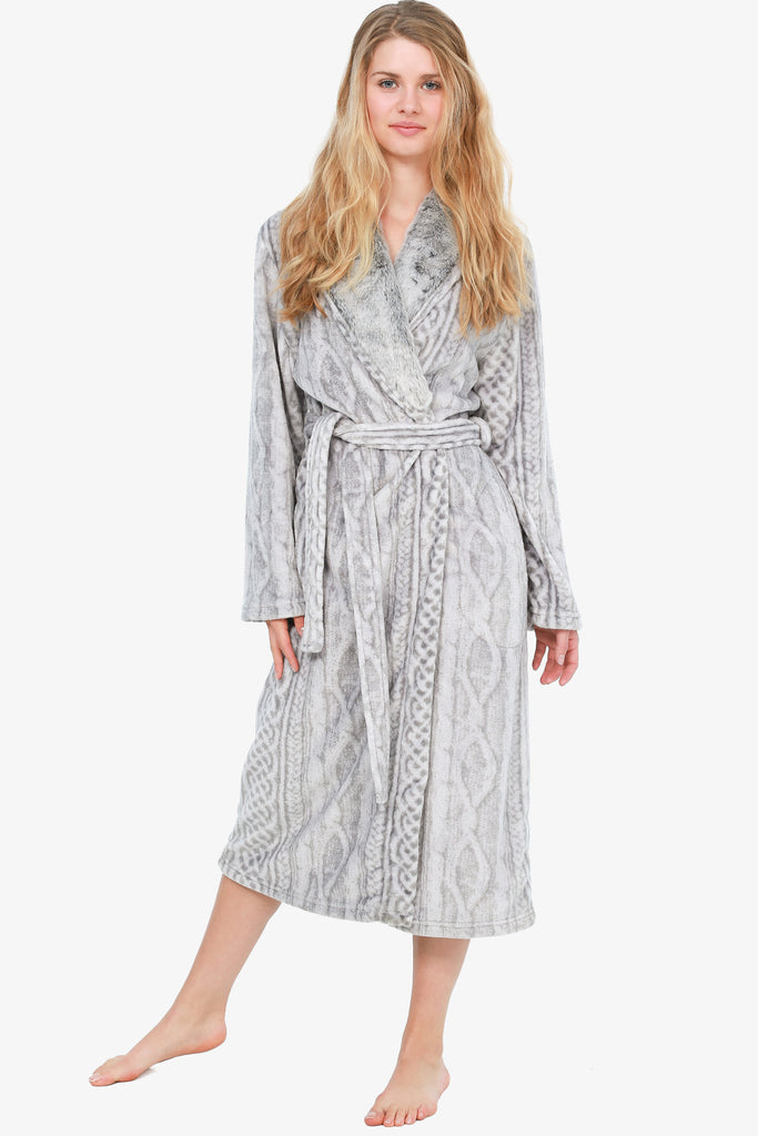 THE ANIMAL PRINT ROBE (SILVER)