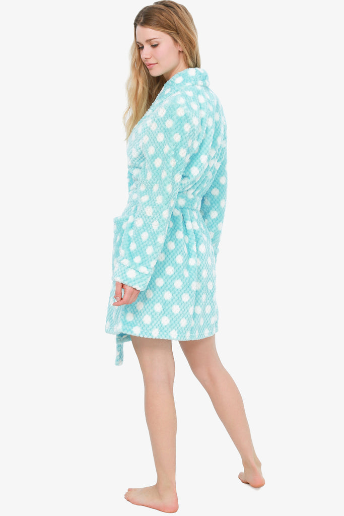 The Polka Dot Aqua Robe (Aqua Blue)