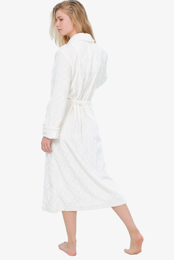 THE ROYAL PLUSH ROBE (IVORY)