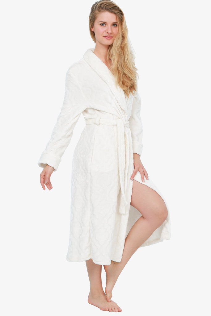 THE ROYAL PLUSH ROBE (IVORY) XL