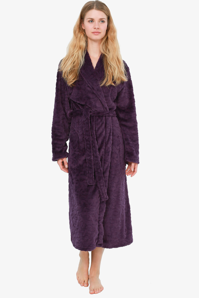 THE GRAPESEED LEAF ROBE (PURPLE)