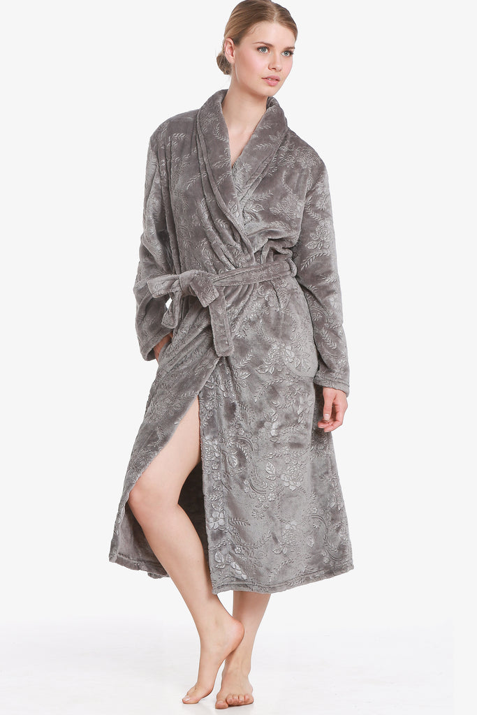The 3D Flower Robe (Silver) - CozyAndCurious