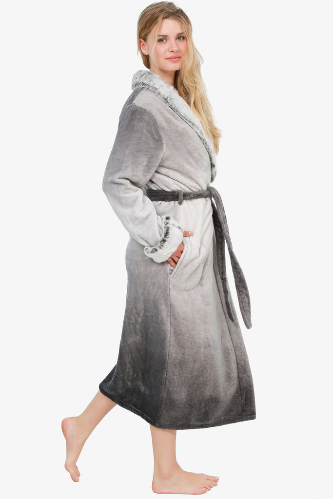 The Faux Fur-Real Robe (Grey)