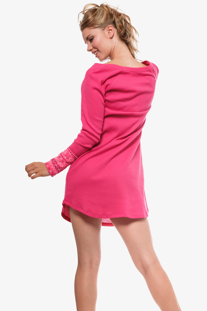 The Cozy Thermal Nightshirt (Pink)