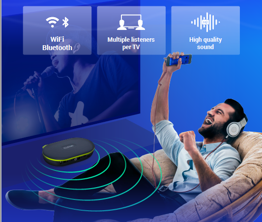 The Best Way To Connect TV Audio Wirelessly To Any Device – CloviTek