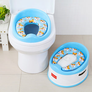 Portable Toilet Seat Safe & Comfort Pink White Blue Training Potty